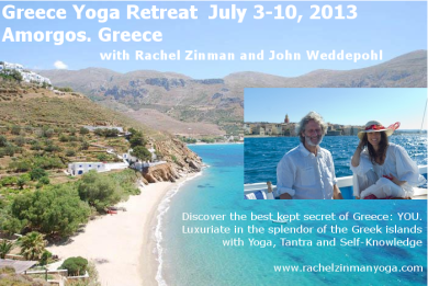 Greece Yoga Retreat with Rachel Zinman and John Weddepohl